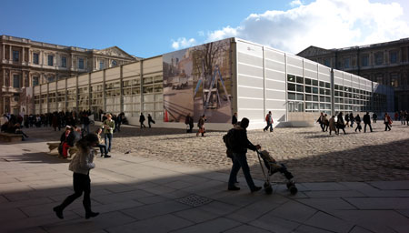For FIAC, a temporary building in the Cour Caree du Louvre