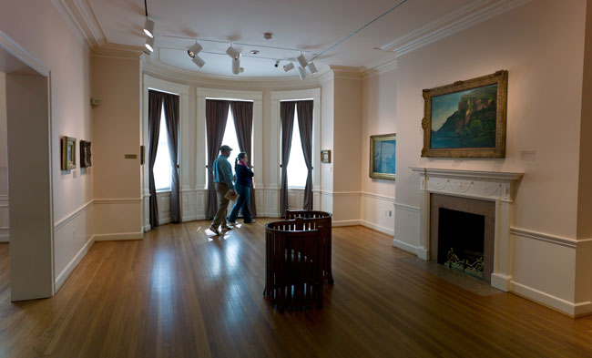 Gallery room in the original residence.