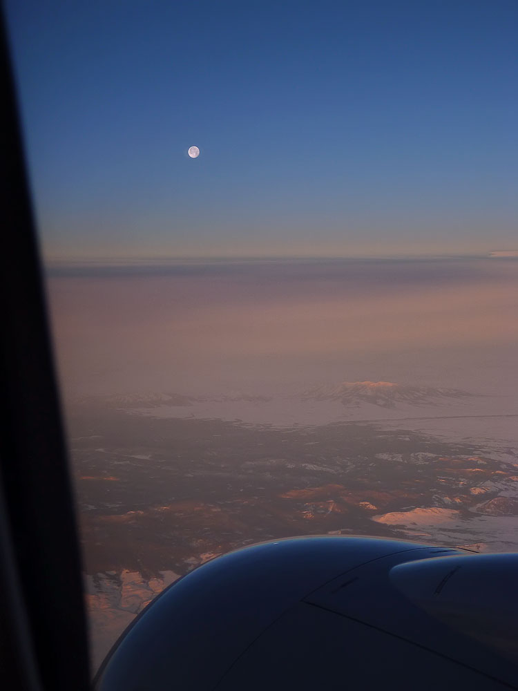 Somewhere Out West -- Dawn from the air.