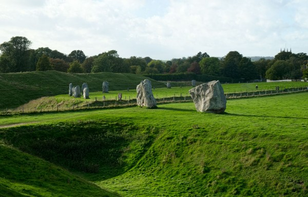 A portion of the Avebury Circle, including two gate stones. (Click on image to enlarge)