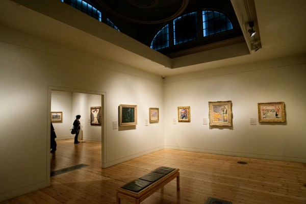 Paintings displayed in smaller rooms in what was once the main exhibition area of the Royal Academy.   (Click image to enlarge)