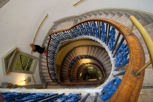 Coutauld staircase.  (Click image to enlarge)