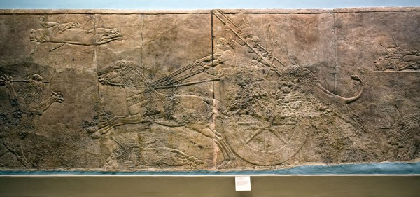 5.  Assyrian lion hunting.  (Click image to enlarge)
