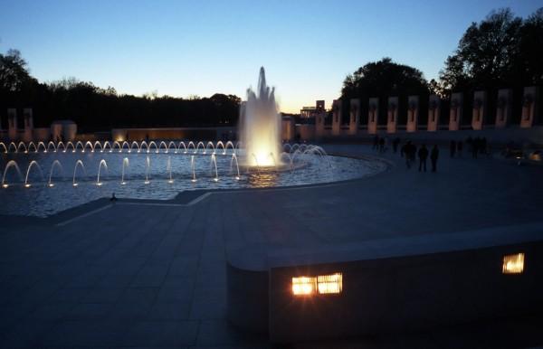 World War II Memorial at Sunset